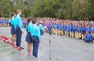 Торжественная церемония у Памятника славы воинам-освободителям на Сапуп-горе, г. Севастополь