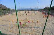 Соревнования по пляжному футболу, стрельбе из лука