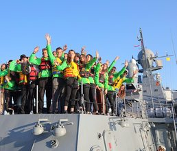 Артековцы посетили малый ракетный корабль «Вышний Волочёк»