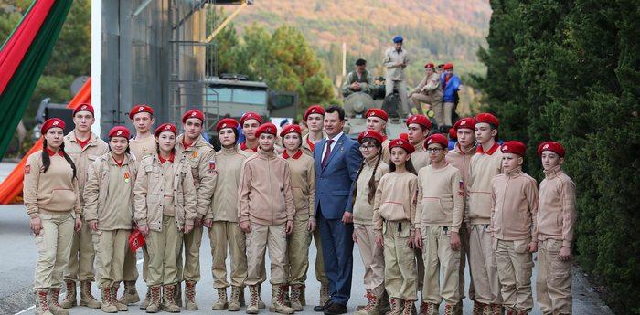 В «Артеке» прошла патриотическая акция в рамках программы ВВПОД «Юнармия»