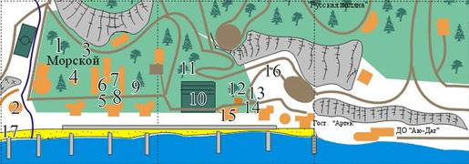 Где находится Артек в Крыму? Детский лагерь на карте.
